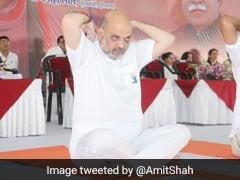Amit Shah Credits PM Modi For Taking Yoga To The World