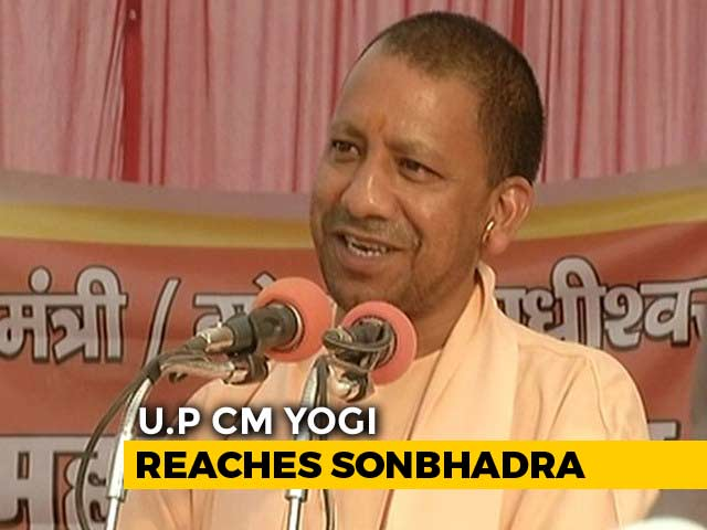 Video : Yogi Adityanath In UP Village To Meet Victims Of Shootout That Killed 10