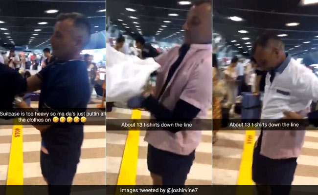 Man Wears 15 Shirts To Avoid Paying Excess Baggage Fee. Watch Viral Video