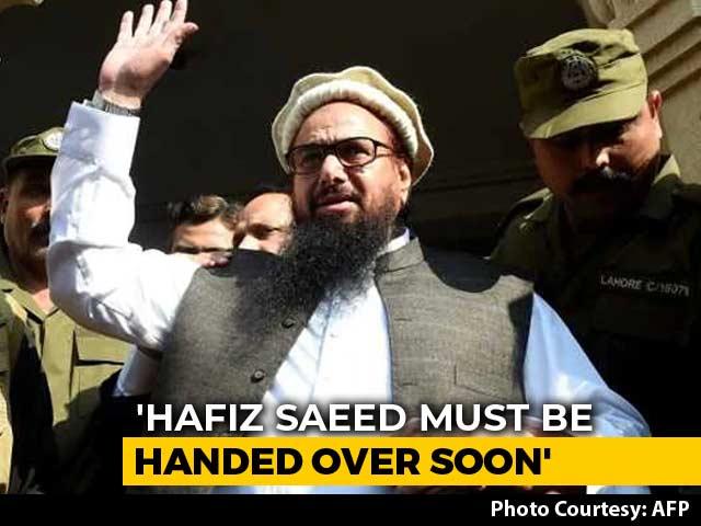 "Video : ""Cosmetic Steps,"" Says India On Pakistan's Move On Hafiz Saeed"
