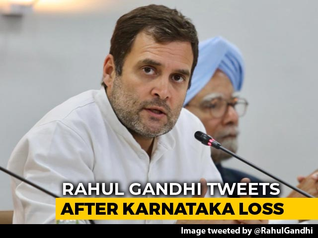 "Video : ""Greed"" Of Vested Interests Won, Tweets Rahul Gandhi After Karnataka Loss"