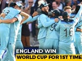 Video : England Win Their Maiden Cricket World Cup After Super Over Drama