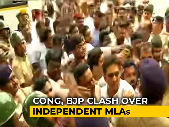 Video : 48-Hour Curbs In Bengaluru After Clashes Ahead Of Trust Vote