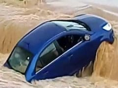 Watch: Car Caught In Chhattisgarh Flash Floods Washed Away Within Minutes