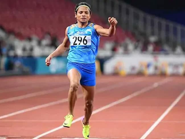 Indian sprinter Dutee Chand clinched the gold in women's 100-metre event