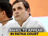 Video : Rahul Gandhi To Appear Before Patna Court Today In Defamation Case