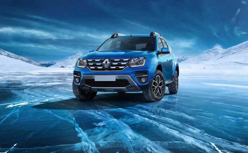 The Renault Duster facelift gets two new colour options - 'Caspian Blue' and 'Mahogany Brown'.