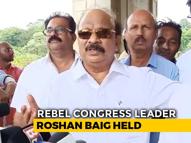 Video : Congress Rebel About To Take Special Flight Detained At Bengaluru Airport