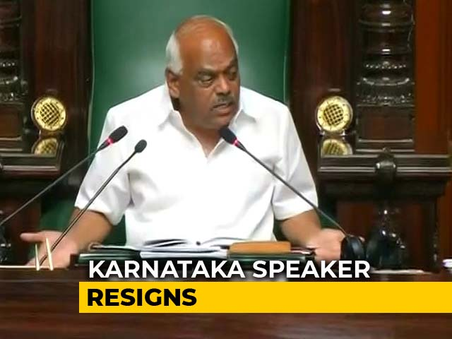 Video : Karnataka Speaker Resigns After Trust Vote