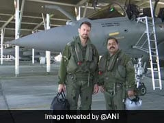 "Air Force Vice Chief Flies Rafale, Warns Of ""Potent"" Pairing With Sukhoi"