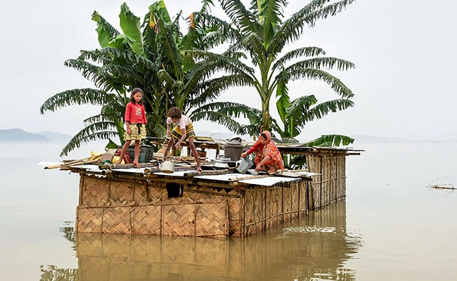 As More Floods Hit Assam, Infant Girl's Home Inundated Twice In Fortnight