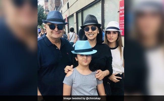 Rishi Kapoor, Neetu Kapoor And Granddaughter Samara's Gangster-Style Takeover Of New York