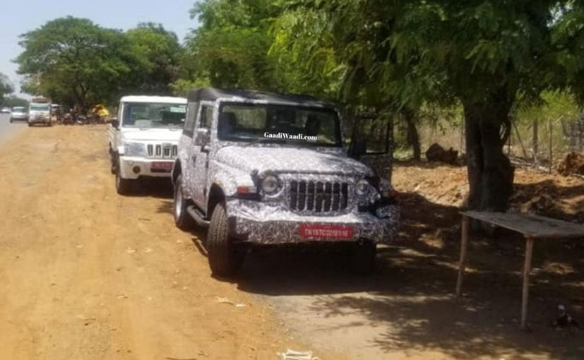 Mahindra has been testing the 2020 Thar in the southern part of the country.
