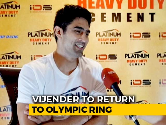 Video : Vijender Singh Wants To Fight In Tokyo 2020