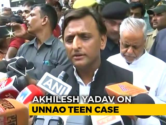"Video : ""BJP Very <i>Sanskaari</i>,"" Akhilesh Yadav Sneers Amid Row Over Unnao Teen Case"