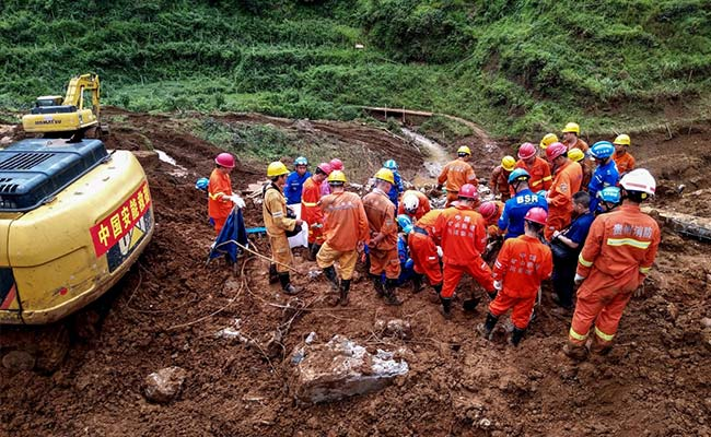 China landslide death toll rises to 29 with 22 still missing