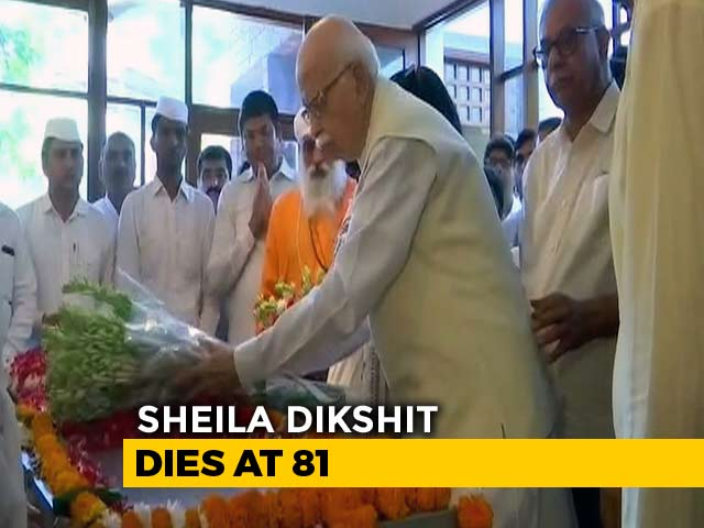 Video : Sheila Dikshit's Last Rites Today, Leaders Visit Her Home To Pay Respects