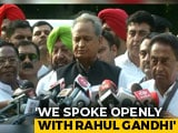 "Video : ""Hope There's Positive Decision"": Ashok Gehlot After Meeting Rahul Gandhi"