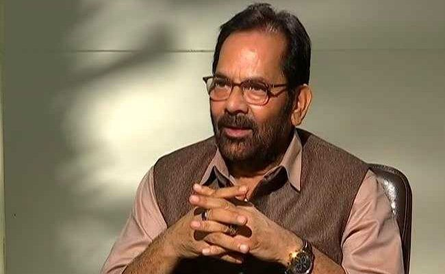 Congress Trying To Convert Corruption To Revolution: Mukhtar Abbas Naqvi