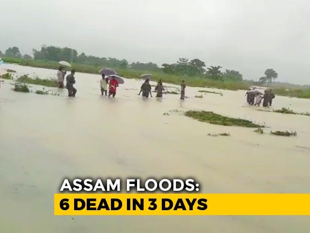 Video : 6 Dead, Over 8 Lakh Affected In Assam Flood; Rivers Above Danger Mark