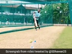 Watch: Shikhar Dhawan Picks Up Bat For The First Time After Thumb Injury