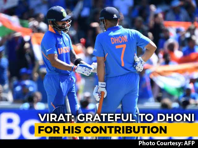 """Video : """"Respect For Him Is Always Going To Be Sky High"""", Says Kohli Praising Dhoni"""