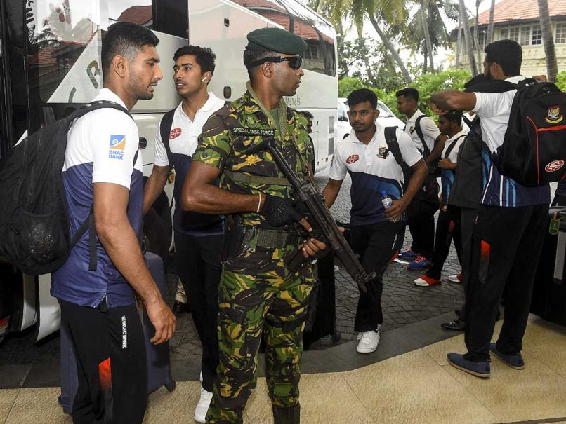 Bangladesh Cricketers Arrive In Sri Lanka Under High Security