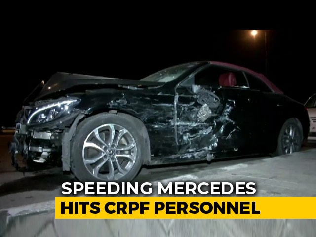Video : CRPF Personnel Killed After Teen Rams Mercedes Into Car In Delhi: Police
