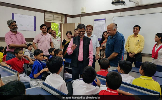 Meghalaya Minister Turns Student At 'Happiness Class' In Delhi Government School