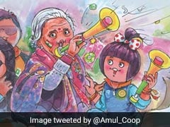 """""""Grandmother India"""": Amul's Tribute To Viral 87-Year-Old Cricket Fan"""