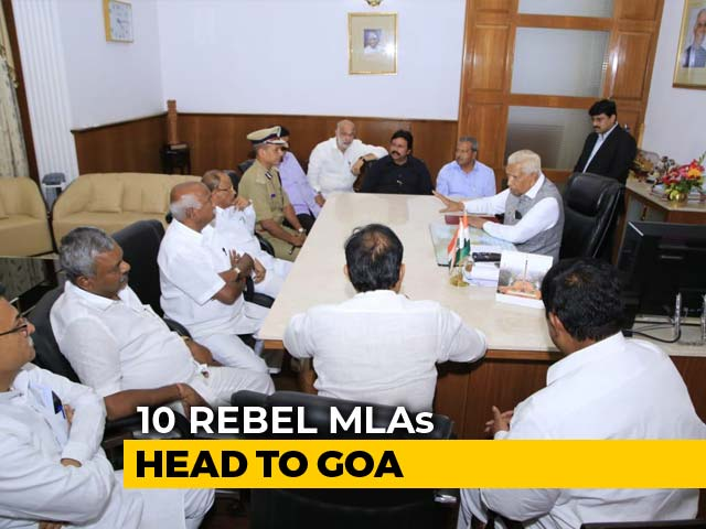 Video : 11 Karnataka Coalition Lawmakers Quit, Ferried To Mumbai Hotel