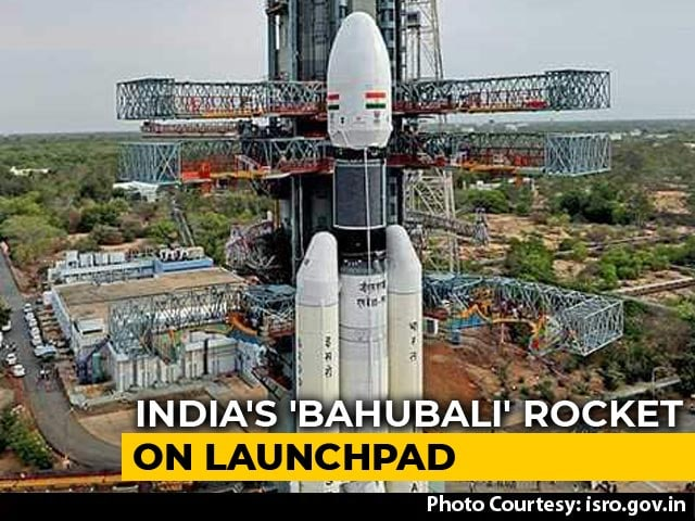 "Video : First Images Of India's ""Bahubali"" Rocket That Will Launch Chandrayaan-2"