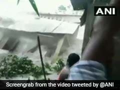 Watch: School Building In Assam Crashes Into Brahmaputra Amid Heavy Rain