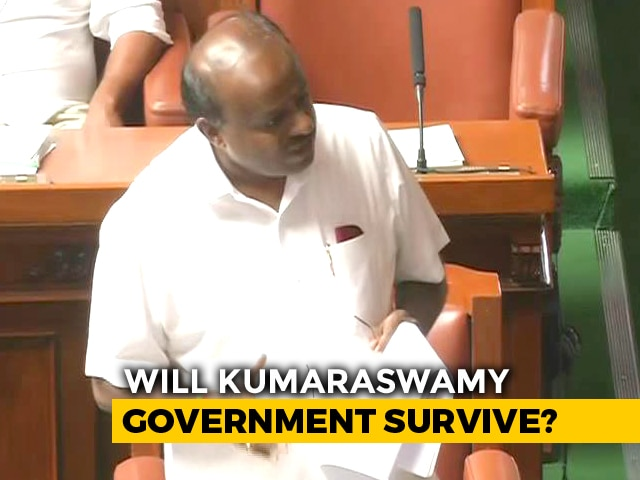 """Video : BJP """"Seems To Be In Hurry,"""" Taunts HD Kumaraswamy Over Trust Vote"""