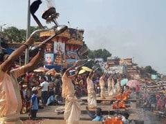 Chandra Grahan 2019: सूतक काल ने फिर तोड़ी विश्व प्रसिद्ध गंगा आरती की परम्परा, दिन में ऐसे हुई पूजा