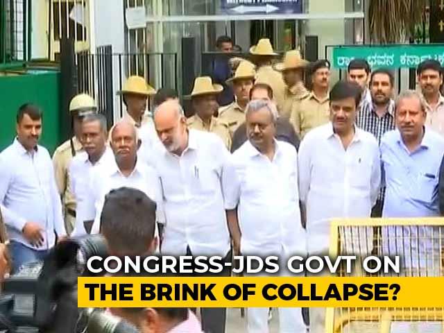 Video : Karnataka Rebel Lawmakers Flown To Mumbai, Congress Alleges BJP Hand