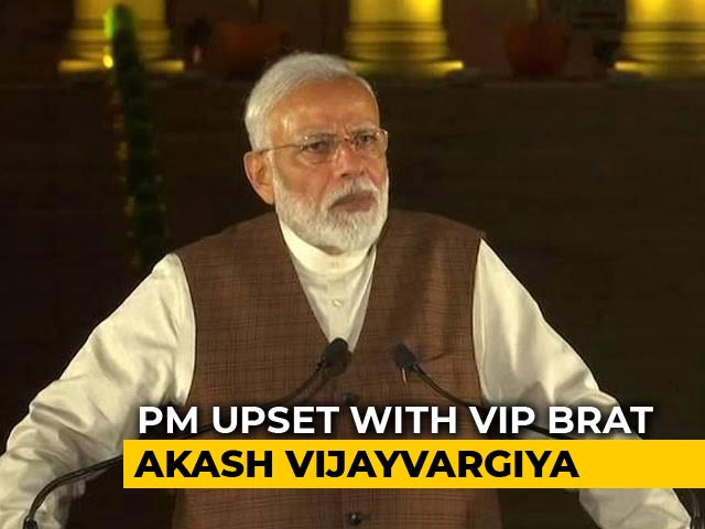 Video : 'No Exceptions': PM Upset After Kailash Vijayvargiya's Son Hits Official
