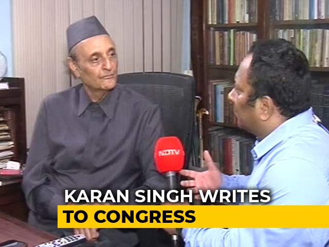 Video : Congress Wasted Month Pleading With Rahul Gandhi, Says Karan Singh