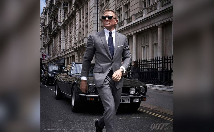 The photo and video of Daniel Craig and the V8 Vantage was posted on the film's social media page