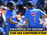 "Video : ""Respect For Him Is Always Going To Be Sky High"", Says Kohli Praising Dhoni"
