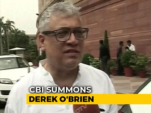 Video : CBI Summons Trinamool's Derek O'Brien In Saradha Chit Fund Scam