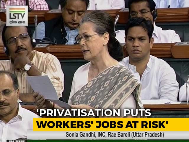 Video: Sonia Gandhi Opposes Move To Privatise Rae Bareli Coach Factory