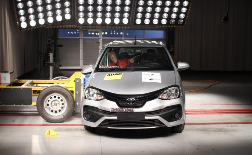 The Latin NCAP crash test result was same for both the Toyota Etios Hatchback and the Sedan