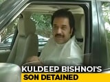 Video : Congress Leader Kuldeep Bishnoi's Son Detained After Tax Raids