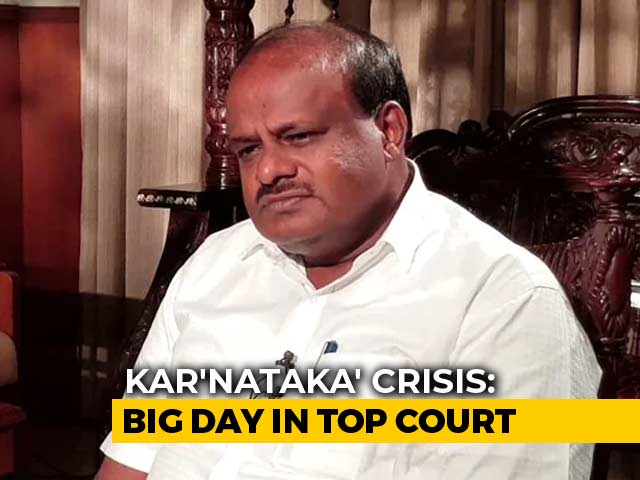 "Video : ""Going Strong,"" Says HD Kumaraswamy As Karnataka Action In Top Court"