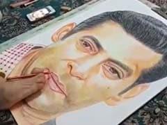सलमान खान की इस फैन ने पांव से बनाई भाईजान की तस्वीर, Video देख आप भी रह जाएंगे हैरान