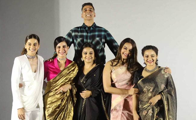 Mission Mangal Takes Off With Akshay Kumar, Vidya Balan, Sonakshi Sinha And Others. See Trailer Launch Pics