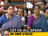 Video : Nirmala Sitharaman, Smriti Irani Seek Action On Azam Khan's Sexist Remark