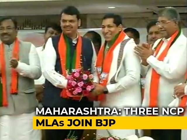 Video : Day After Resignations, 4 Maharashtra Opposition Legislators Join BJP