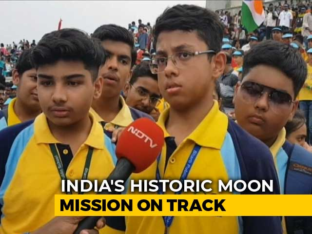"Video : ""Inspirational"": 5,000 Get Front Row Seats For Chandrayaan 2 Lift-Off"